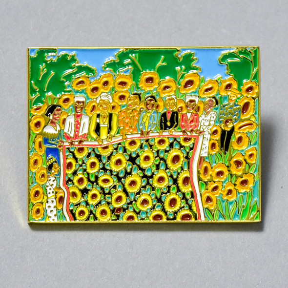 Ringgold The Sunflower Quilting Bee at Arles Enamel Pin