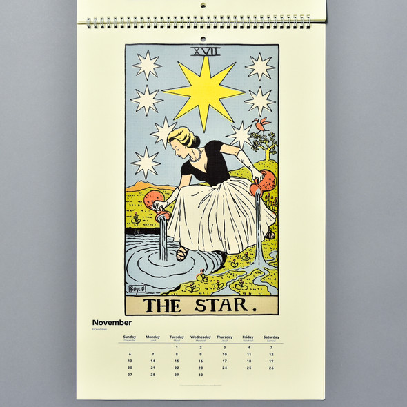 Page from Philly Tarot 2022 Wall Calendar by James Boyle