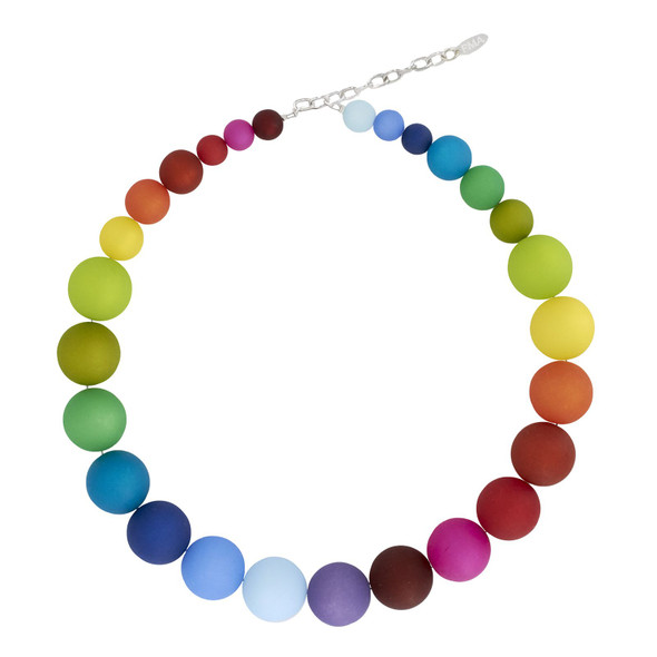Large Bright Multicolor Beaded Necklace