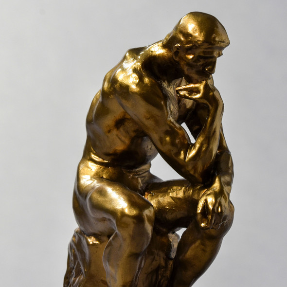"The Thinker 9.5"" Reproduction close up"