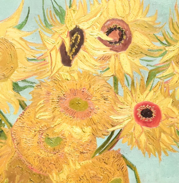 Vincent van Gogh Sunflowers Mini Poster, detail