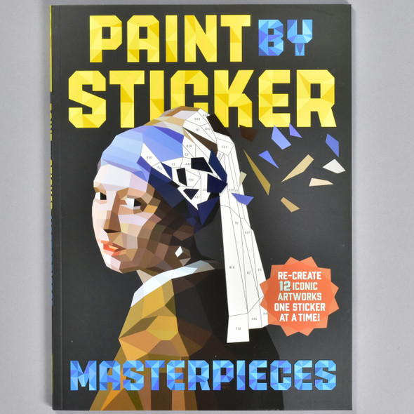 "Front cover of the book ""Paint By Sticker Masterpieces"""