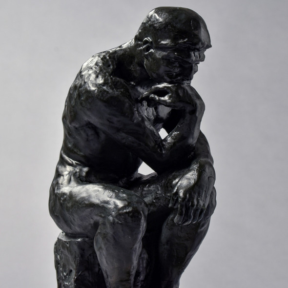 "The Thinker 9.5"" Reproduction, close up"