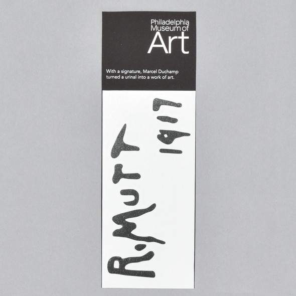 Marcel Duchamp Fountain Sticker in packaging