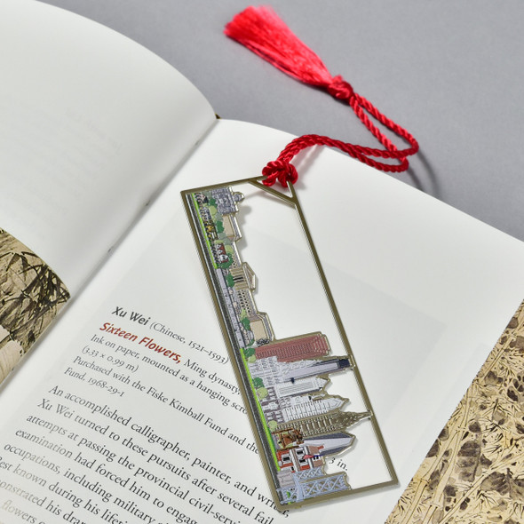 Philadelphia Skyline Bookmark in book