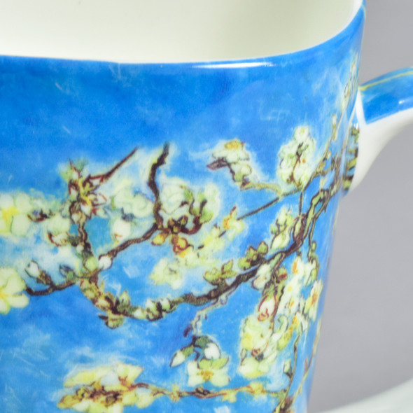 Almond Blossoms Grande Mug, close up