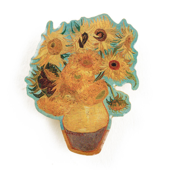 Van Gogh Sunflowers Enamel Pin