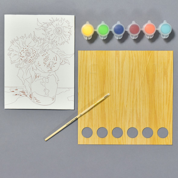 Sunflowers Paint By Number Kit, contents