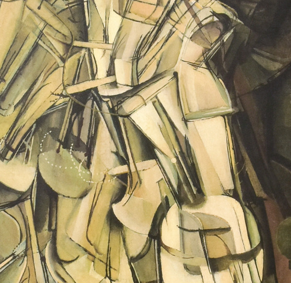 Marcel Duchamp Nude Descending A Staircase (No. 2) Mini Poster, detail