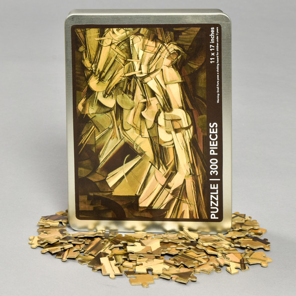 Front of Nude Descending A Staircase (No. 2) Puzzle with pieces