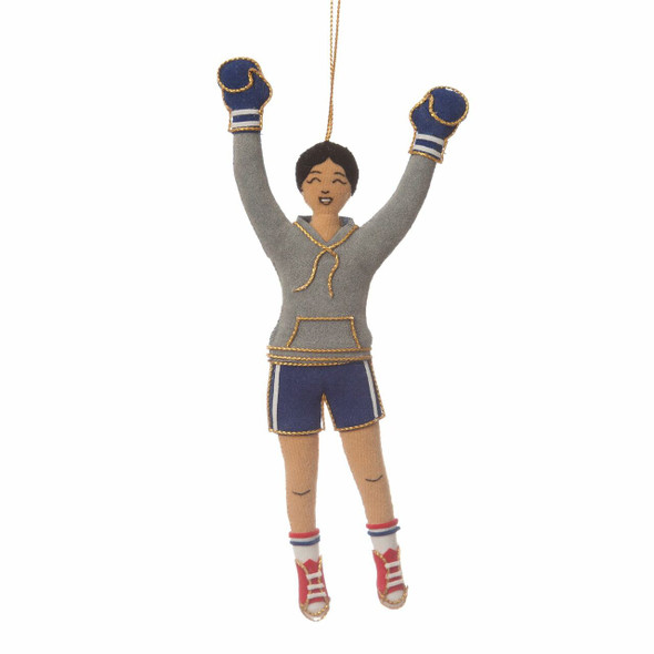 Female Rocky Steps Runner Ornament, front