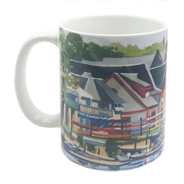 Boathouse Row Mug, left side