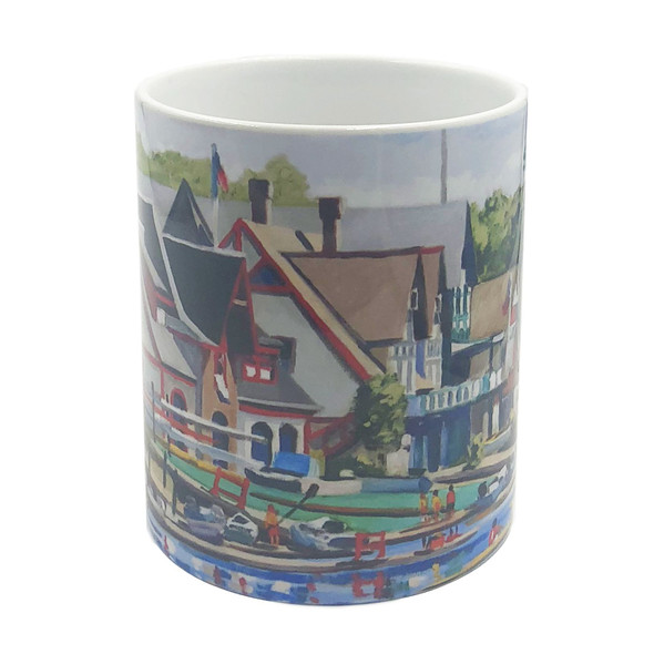 Boathouse Row Mug, front