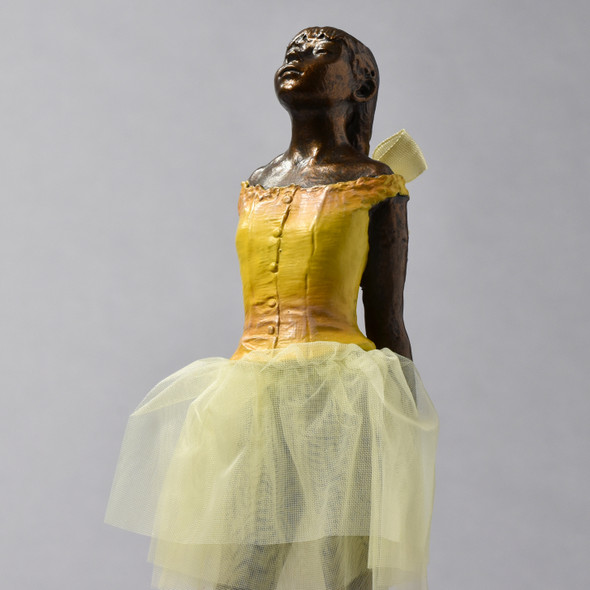 "Little Dancer, Aged Fourteen 8"" Reproduction close up"