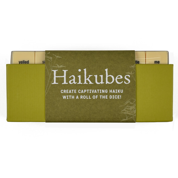 Haikubes, side of packaging