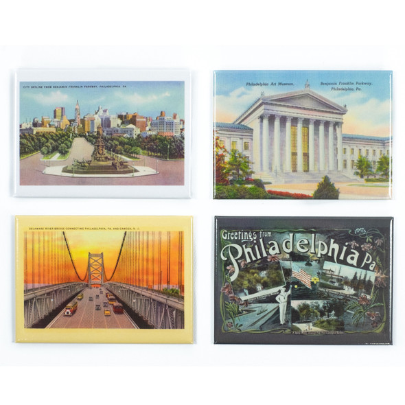 Vintage Postcard Magnet Set of 4 magnets