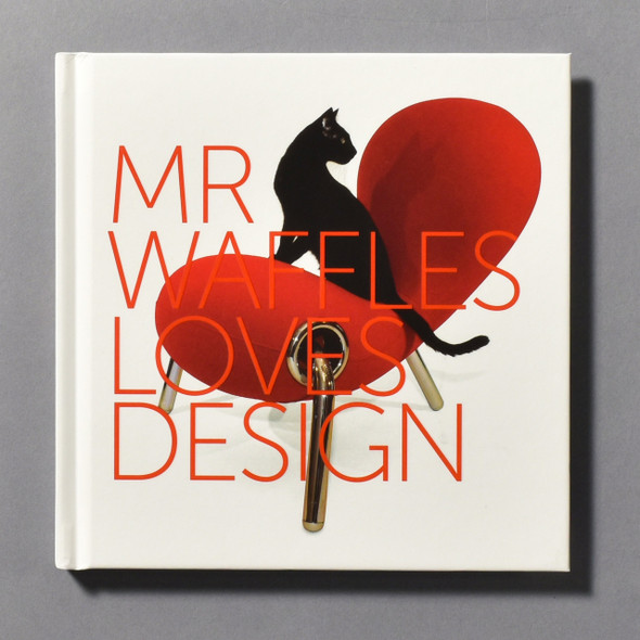 "Front cover of the book ""Mr. Waffles Loves Design"""