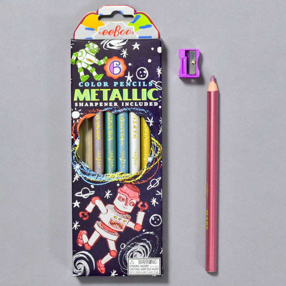 Metallic Color Pencils, box with contents