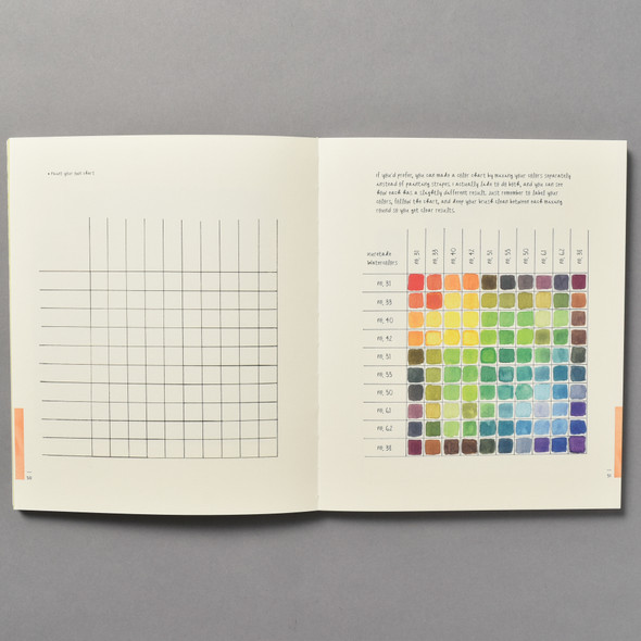 "Interior of the book ""A Field Guide To Color: A Watercolor Workbook"" by Lisa Solomon"
