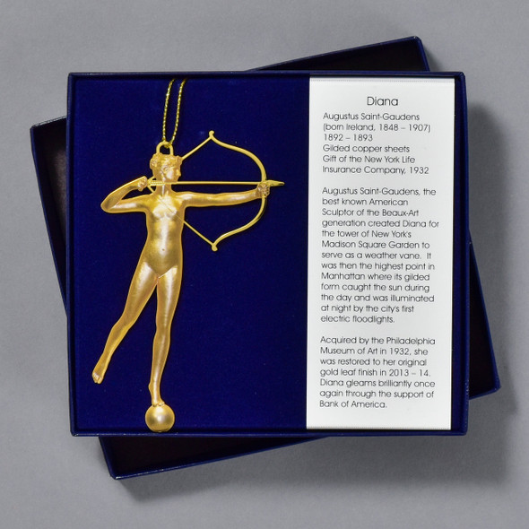 Saint-Gaudens Diana Bookmark in packaging / box