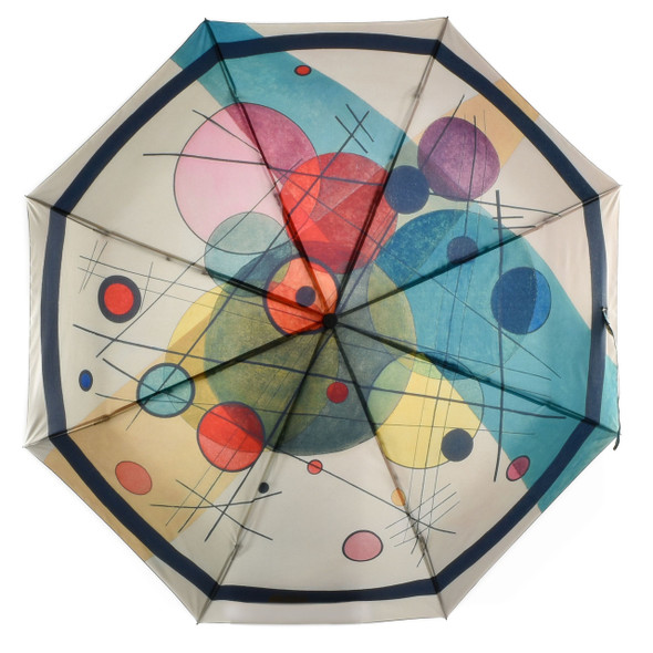 Kandinsky Circles In A Circle Umbrella from above