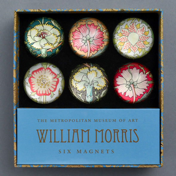 William Morris Magnet Set Box Front with Magnets Inside