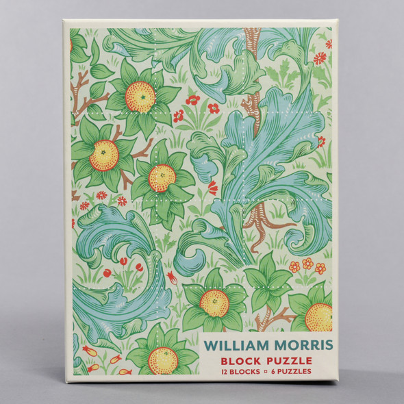 William Morris Block Puzzle Box Front