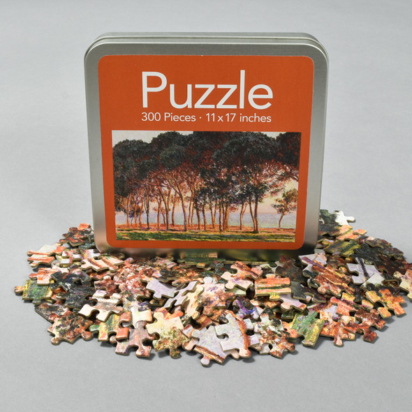 Front of Monet Under The Pines, Evening Puzzle with pieces