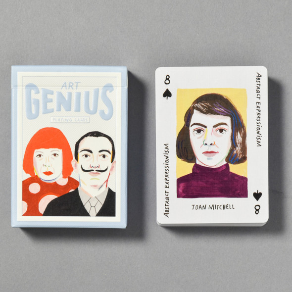 Front of Art Genius Playing Cards with card