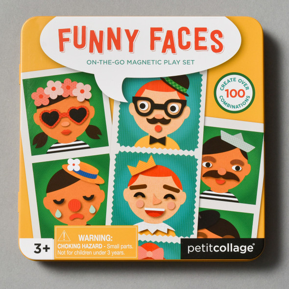Front of Funny Faces Magnetic Play Set