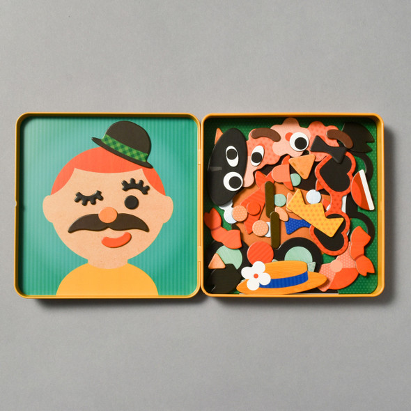 Inside of Funny Faces Magnetic Play Set