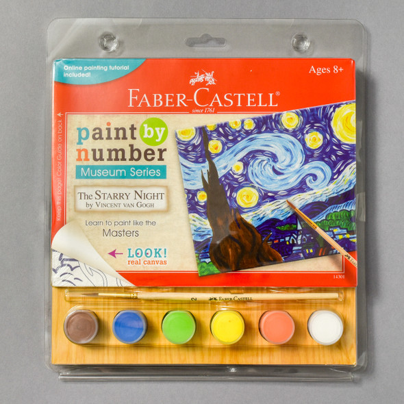 Front of Paint by Number Museum Series •The Starry Night by Vincent van Gogh