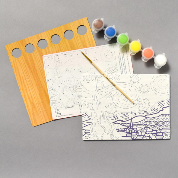 Contents of Paint by Number Museum Series •The Starry Night by Vincent van Gogh