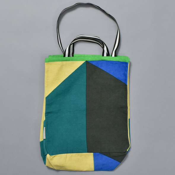 Heartmade Green Geometric Print Medium Tote
