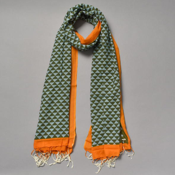 Heartmade Olive and Orange Scarf