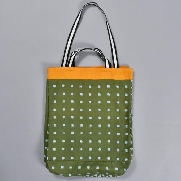 Heartmade Olive and Orange Medium Tote
