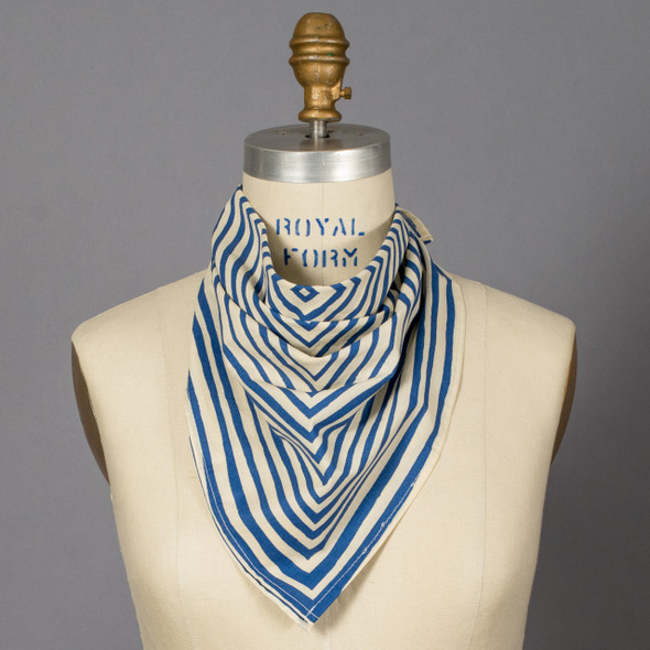 Blue Stripe Sammie Bandana on mannequin
