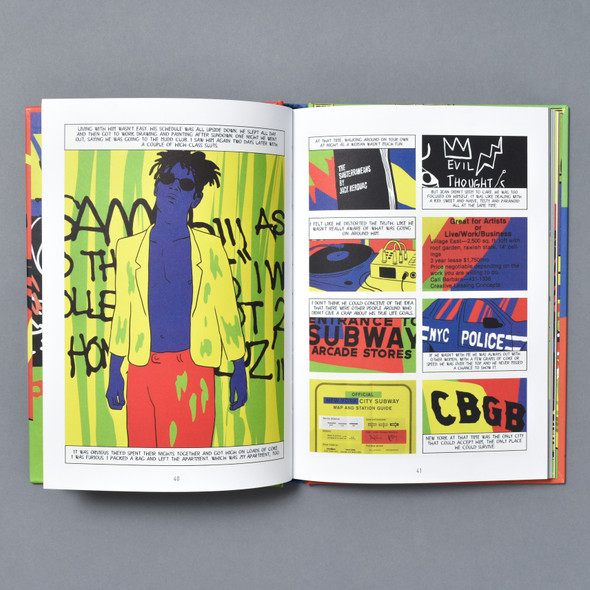 Interior of Basquiat: A Graphic Novel