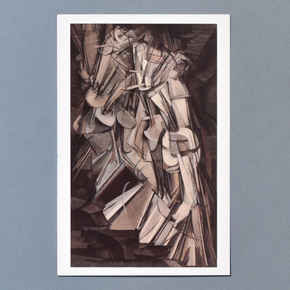 Front of Marcel Duchamp Nude Descending a Staircase (No. 2) Postcard