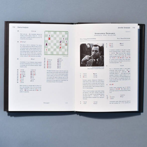 Interior of book Marcel Duchamp: The Art of Chess