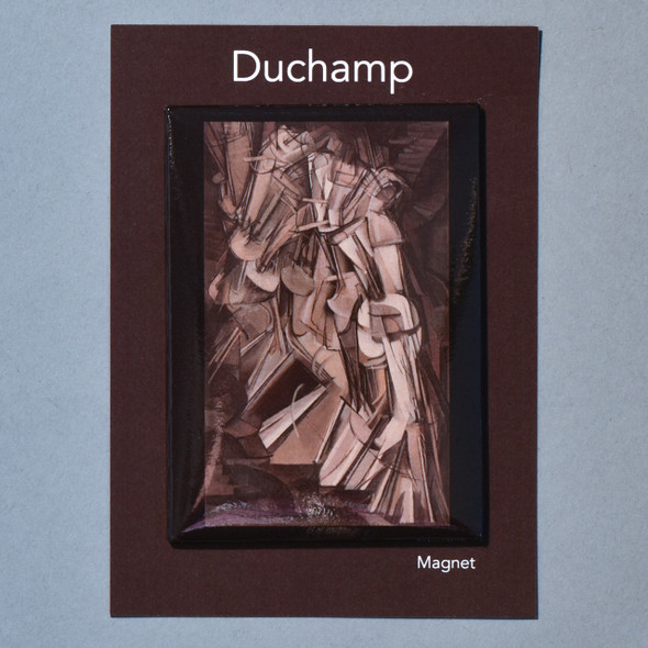 Front of Marcel Duchamp Nude Descending a Staircase (No. 2) Magnet with packaging