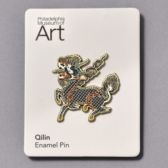 Qilin Enamel Pin on card