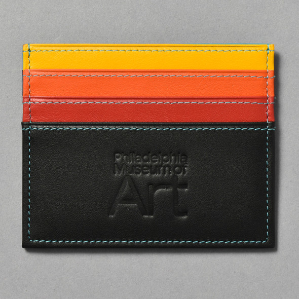 Philadelphia Museum of Art Credit Card Holder yellow orange red side