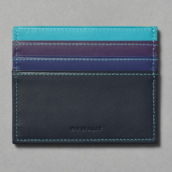 Philadelphia Museum of Art Credit Card Holder blue and purple side