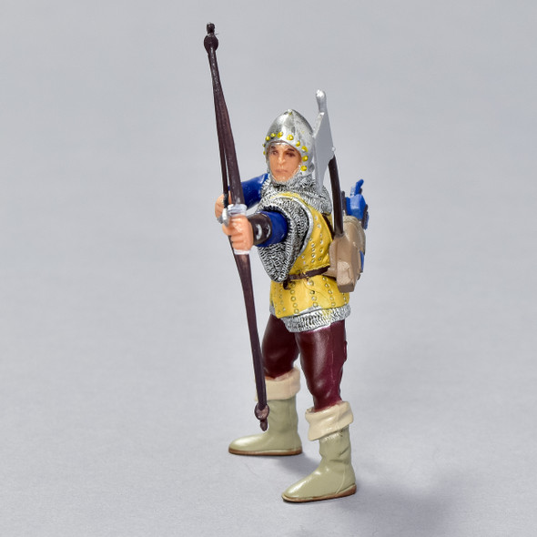 Archer Blue and Gold figurine