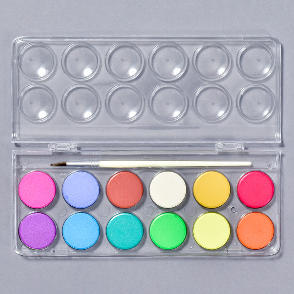 Chroma Blends Pearlescent Watercolors with case open