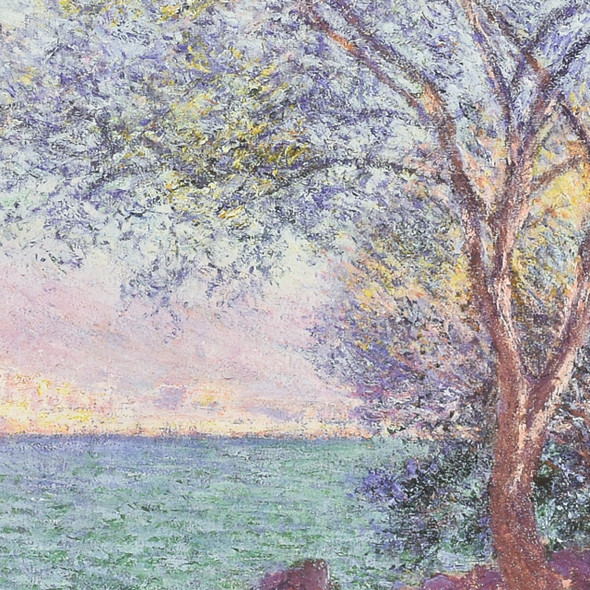 Claude Monet Morning at Antibes Mini Poster detail