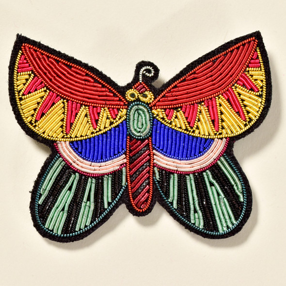 Large Butterfly Metal Thread Pin