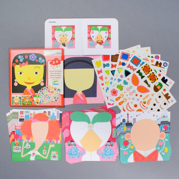 KIT MAKE-A-FACE STICKER contents