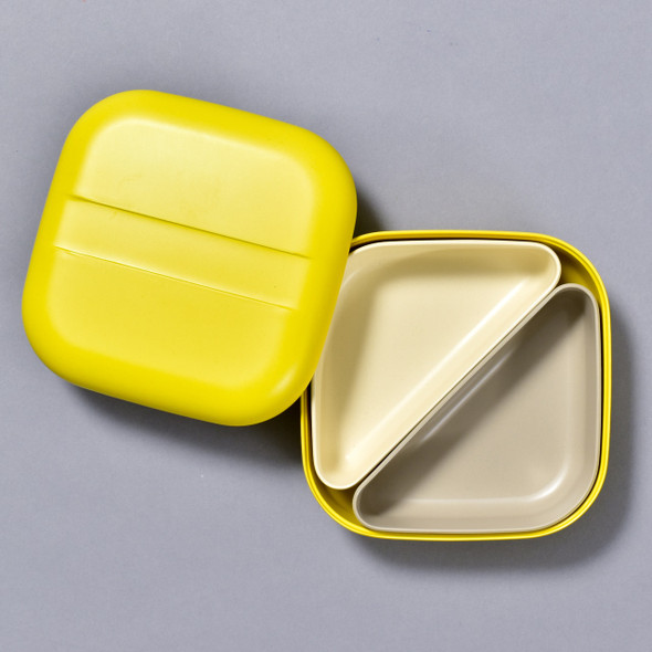 BENTO BOX LEMON open with lid